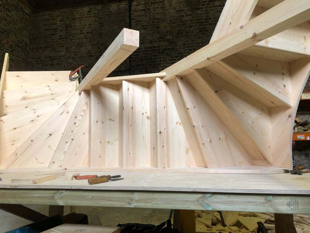 Softwood Pine Bespoke Staircase - North London
