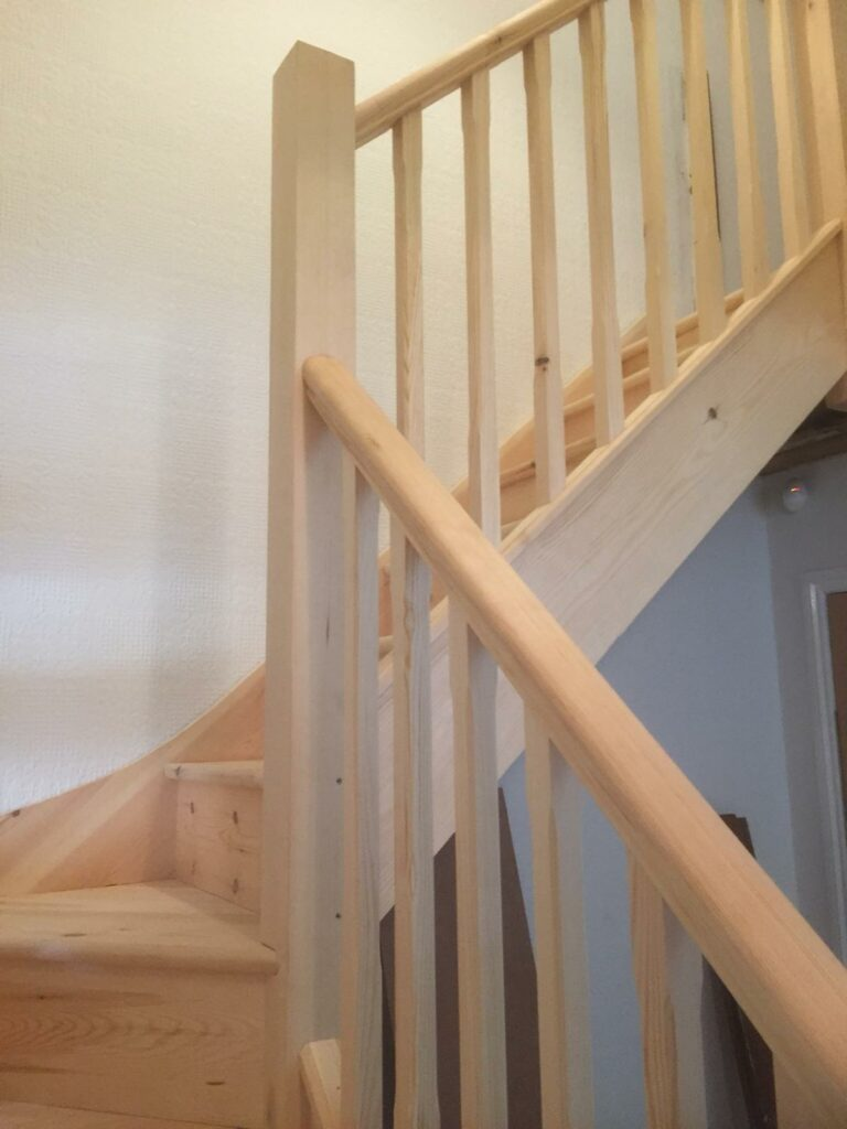 Softwood staircase