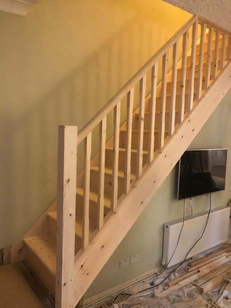 Softwood Straight Flight Staircase 1
