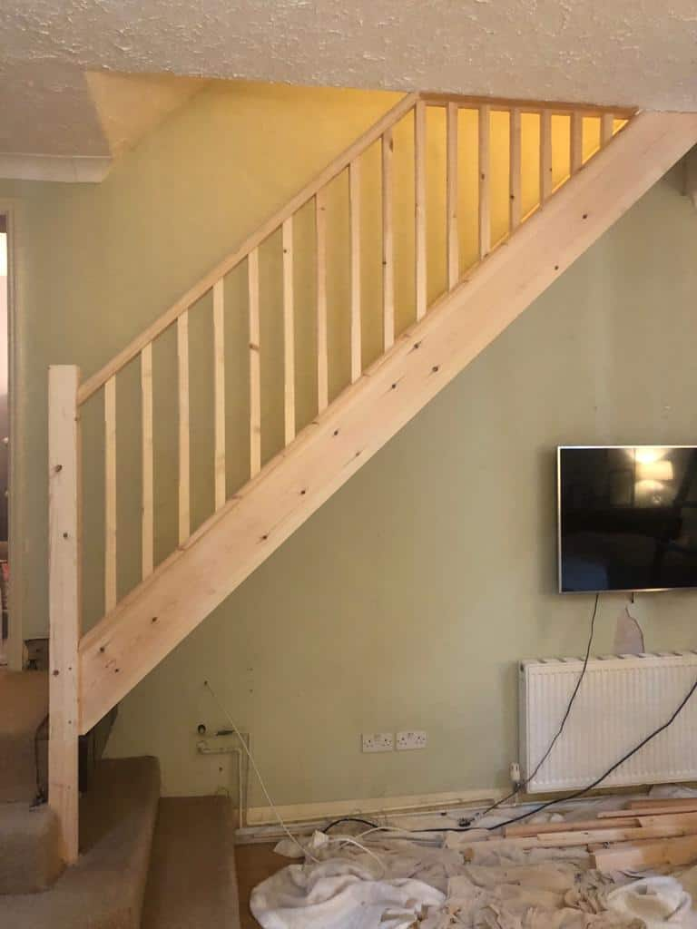 Softwood Straight Flight Staircase 2