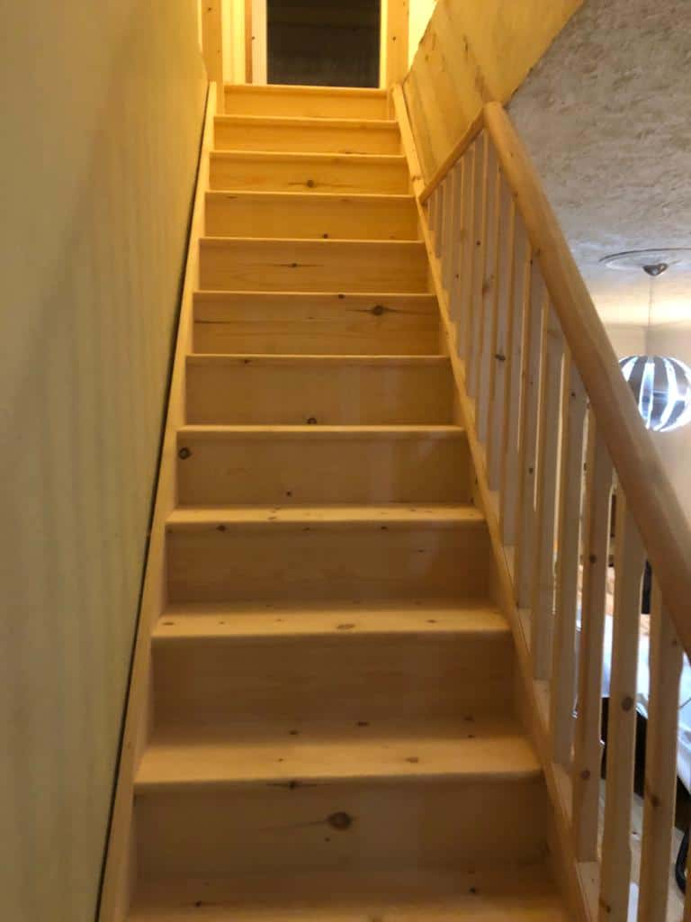 Softwood Straight Flight Staircase 3