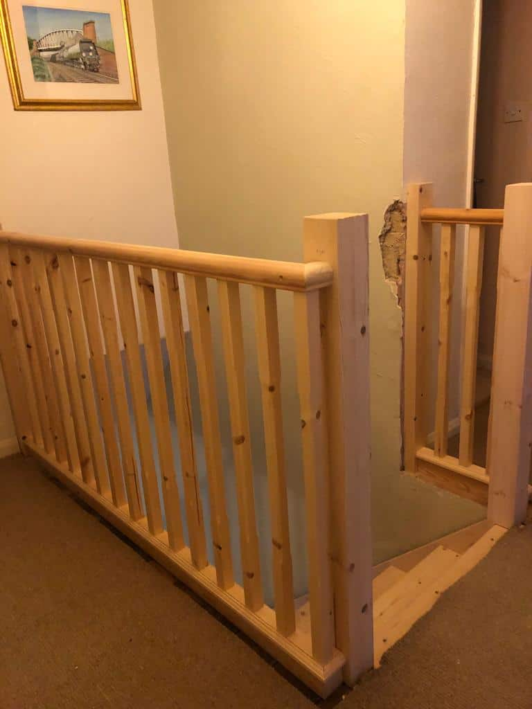 Softwood Straight Flight Staircase 4