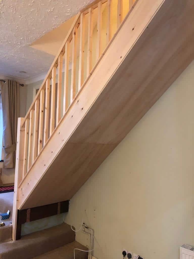 Softwood Straight Flight Staircase 6