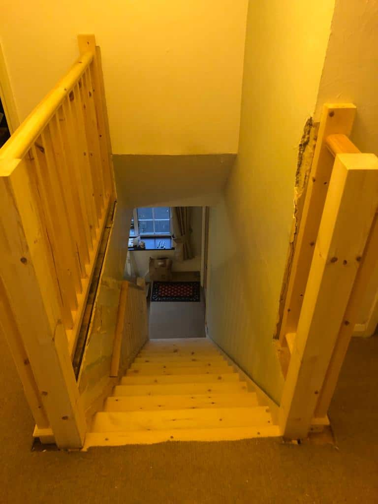 Softwood Straight Flight Staircase 7